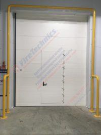 Секционные противопожарные ворота EI60 с калиткой